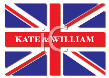 Union jack flag for the royal wedding of kate and william