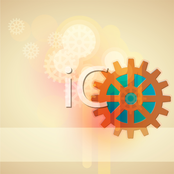 Royalty Free Clipart Image of a Background With Gears