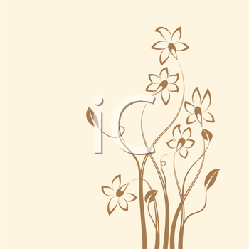 Royalty Free Clipart Image of a Background With a Flower on the Edge