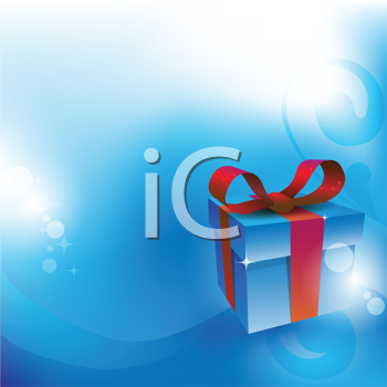 Royalty Free Clipart Image of a Present Background