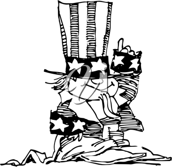 Royalty Free Clipart Image of Uncle Sam