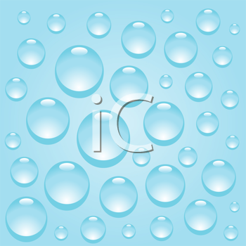 Royalty Free Clipart Image of Blue Water Drops