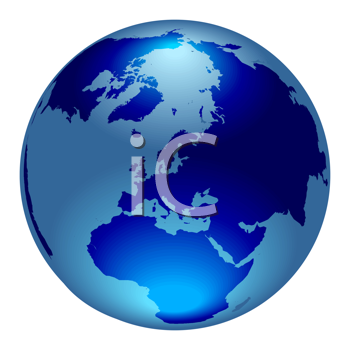 Royalty Free Clipart Image of an Earth Icon
