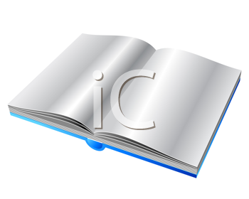 Royalty Free Clipart Image of an Opened Book