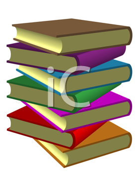 Royalty Free Clipart Image of a Pile of Books