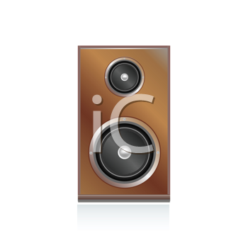 Royalty Free Clipart Image of a Speaker