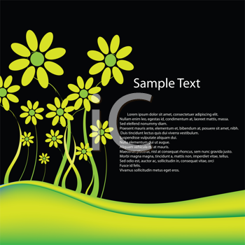 Royalty Free Clipart Image of a Background With Flowers and Space for Text