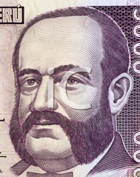 Royalty Free Photo of Admiral Miguel Grau on 5000 Indis 1988 Banknote from Peru. Naval officer and hero of the battle of Angamos in the war of the pacific during 1879-1884. One of the most famous mili
