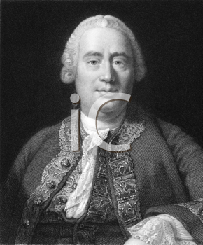Royalty Free Photo of David Hume (1711-1776) on engraving from the 1800s. Scottish philosopher, economist, historian. Key figure of Western philosophy and Scottish Enlightenment. Engraved by W.Holl f