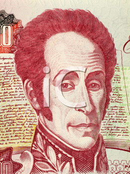 Royalty Free Photo of Simon Bolivar on 1000 Bolivares 1998 Banknote from Venezuela. One of the most important leaders of Spanish America's successful struggle for independence.