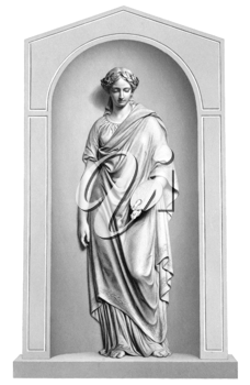Muse of painting engraving from 1866. Engraved by R.A.Artlett from a sculpture by J.H.Foley.