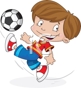 illustration of a boy with a ball