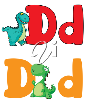 illustration of a letter D dinosaur