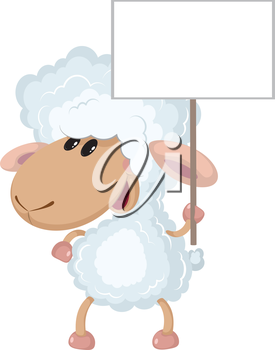 illustration of a lamb with a sign