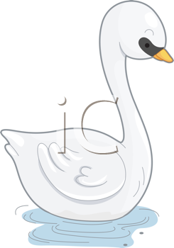 Royalty Free Clipart Image of a Swan