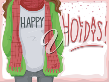Background Illustration with a Holiday Theme