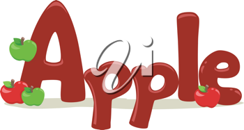 Text Illustration Featuring the Word Apple