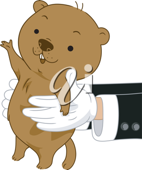 Illustration of Someone carrying a Groundhog