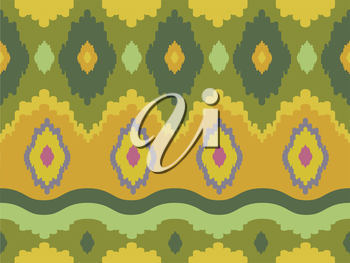 Royalty Free Clipart Image of an Ikat Background
