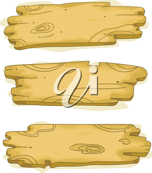 Royalty Free Clipart Image of Wooden Signs