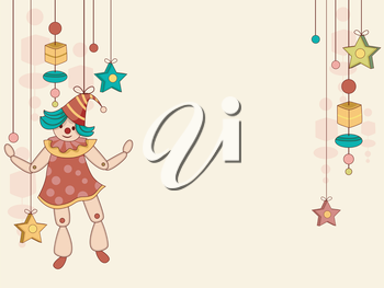 Royalty Free Clipart Image of a String Puppet Background
