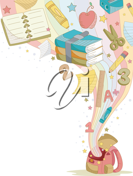 Royalty Free Clipart Image of an Education Background