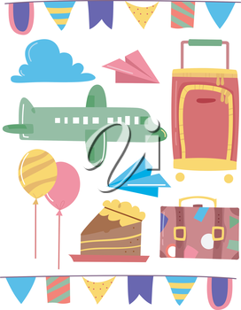 Grouped Illustration of Travel Related Elements