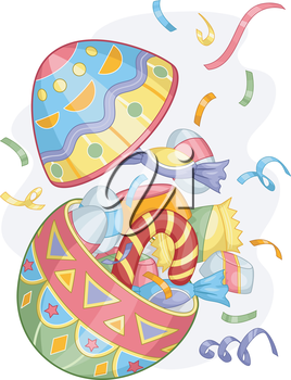 Illustration of Colorful Easter Egg Candies for Easter Sunday