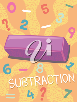 Illustration Featuring the Subtraction Symbol