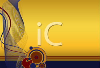 Royalty Free Clipart Image of a Navy and Gold Background