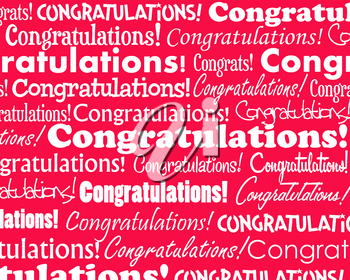 Royalty Free Clipart Image of a Congratulations Background