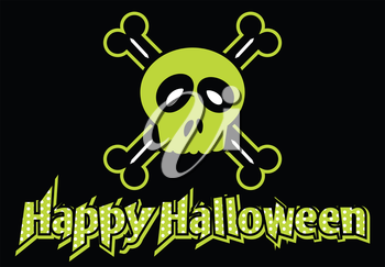 Royalty Free Clipart Image of a Happy Halloween Message