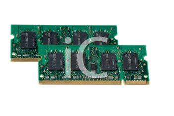 Computer accessories, the laptop memory, isolated, hyper DoF.