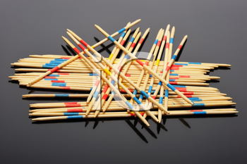 Royalty Free Photo of a Game Sticks in a Pile