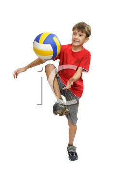 Royalty Free Photo of a Child Playing With a Ball