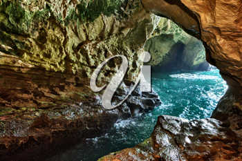 The white chalk cliffs and underground grottoes Rosh Hanikra