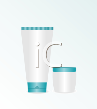 Royalty Free Clipart Image of Cosmetic Creams