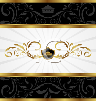 Royalty Free Clipart Image of a Golden Decorative Background
