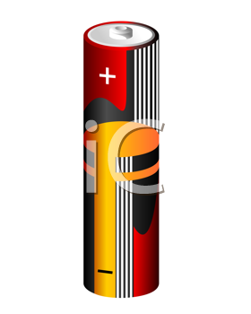 Royalty Free Clipart Image of a Battery