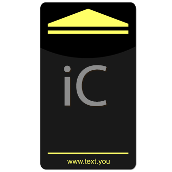 Royalty Free Clipart Image of a Business Card Template