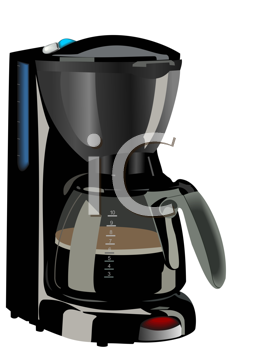 Royalty Free Clipart Image of a Coffee Maker