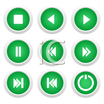 Royalty Free Clipart Image of a Set of Music Icons