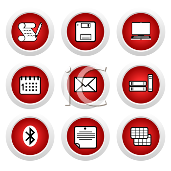 Royalty Free Clipart Image of a Set of Business Icons