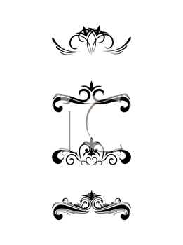 Royalty Free Clipart Image of a Set of Floral Borders