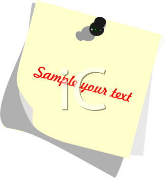Royalty Free Clipart Image of a Post It Note