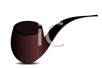Royalty Free Clipart Image of a Tobacco Pipe
