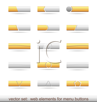 Royalty Free Clipart Image of a Set of Web Elements