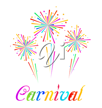 Illustration sketch abstract colorful exploding firework for Carnival party - vector