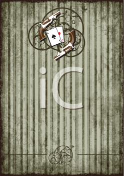 Royalty Free Clipart Image of a Striped Gambling Background