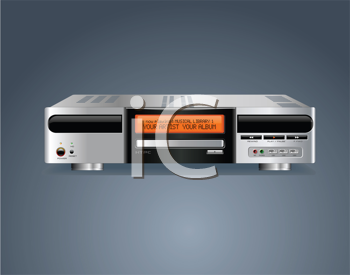 Royalty Free Clipart Image of a Home Media Personal Computer